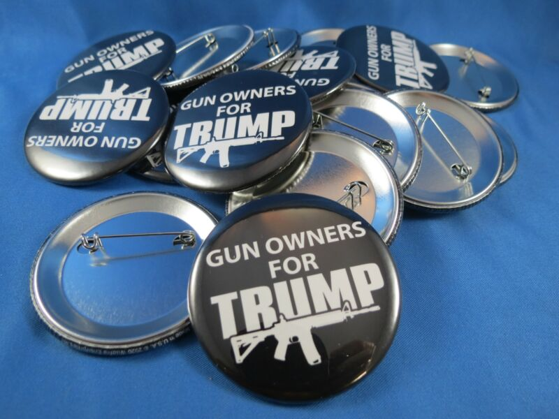 WHOLESALE LOT OF 22 GUN OWNER FOR TRUMP PRESIDENT 2024 BUTTONS pin ar15 GOP M15