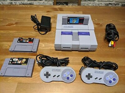 Super Nintendo Console w/3 Games & Mario World SNES REGION FREE MOD!! LOVELY!