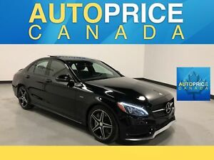 2016 Mercedes-Benz C-Class AMG|REAR CAM|PANOROOF|LEATHER