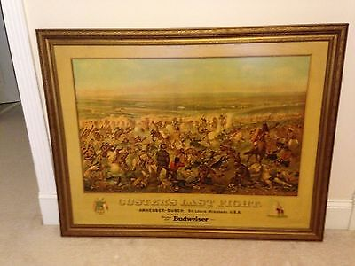 Vintage Anheuser-Busch Budweiser CUSTER'S LAST FIGHT lithograph