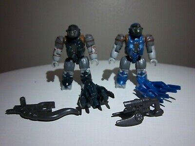 2x Halo Mega Bloks Set Covenant Jump Pack Brute w weapons Action Mini (Halo Mega Bloks Covenant Weapons Pack 2)