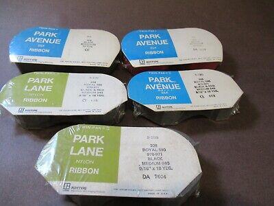 5 Park Ave Lane Typewriter Ribbon Black And Red Silk Twin Spool New Packs