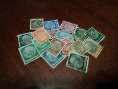 Collection lot Germany Hindenburg stamp set