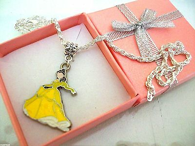 PRINCESS BELLE BEAUTY AND THE BEAST  NECKLACE STRONG AGE 3,4,5,6,7,8Y  GIFT BOX