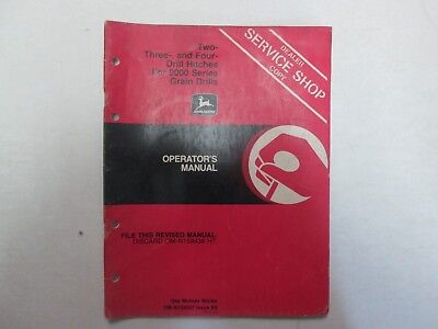 John Deere Two Three Four Drill Hitches 9000 Series Grain Drills Operator Manual