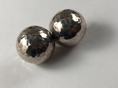 Rare Ippolita Sterling Silver 925 Post Earrings Hammered Finish Omega Back