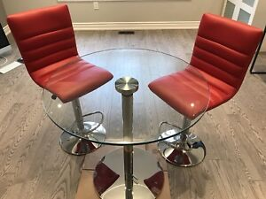 High table and 2 bar stools