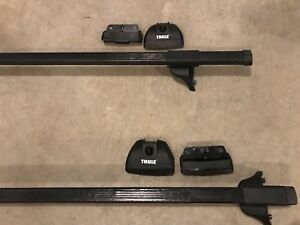 Thule roof rack cross bars with 3024 fit kit