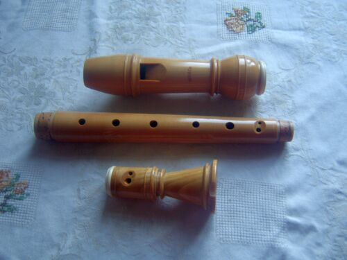 Wooden Moeck Meisterstück Alto / Treble Recorder, Baroque, Maple with Horn Rings