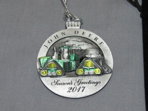 John Deere Christmas Ornament Pewter 2017 9570RX 9620RX Tractor NIP
