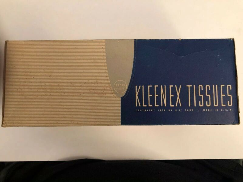 Vintage Kleenex Tissues Box Unopened From 1938 RARE FIND. See Pictures LOOK