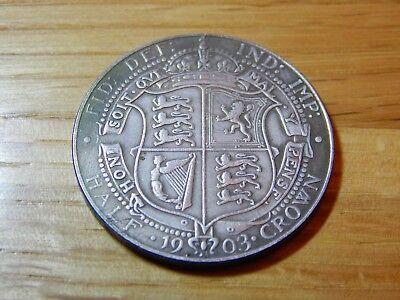 1903 1/2 half Crown  Rare Coin 2/6 king edward VII commemorative issue esc 748