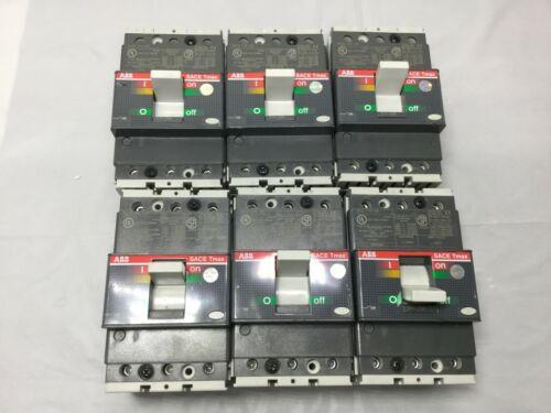 *New* Lot Of 2 ABB SACE T1N 100 Tmax 3-Pole 60amp 240V Circuit Breaker