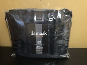 Twin Sheet set in black 500 thread count