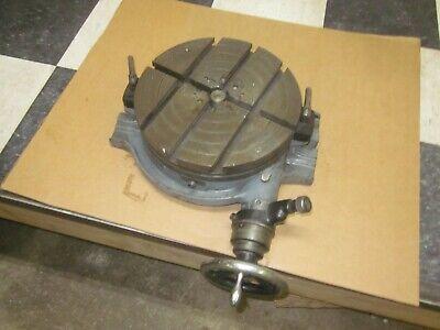 Pm 12 Precision Horizontal Rotary Table Fits Bridgeport Mill W Cross T Slots