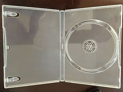 50 14mm New Single Super Clear Dvd Cases With Sleeve Psd23