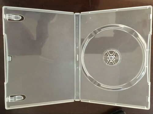 100 14MM NEW HIGH QUALITY SINGLE SUPER CLEAR DVD CASES PSD23