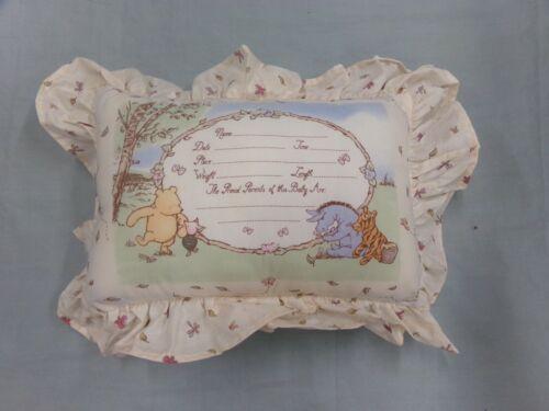 Disney Classic Winnie The Pooh Keepsake Birth Announcement Pillow