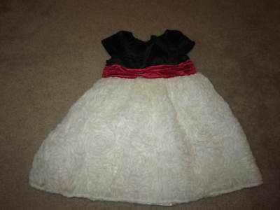Girls Kids R Us Black, Red and White Holiday Dress, 3T
