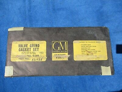 1956 Pontiac all Series Valve Grind Gasket Kit NOS GM # 521988