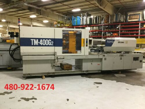 1996 Toyo TM 400 G2 Plastic Injection Molding Machine 400 Ton 40 oz Shot Size