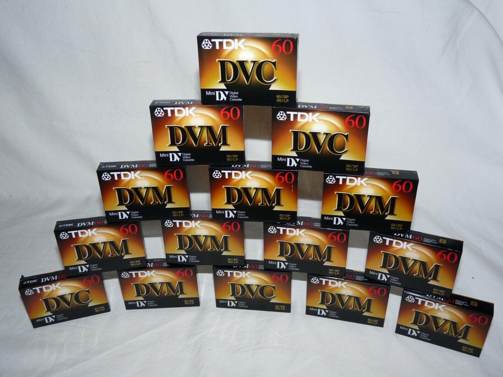 Lot Of 15 TDK DVM60ME DVC DVM Minidv Mini Dv Cassettes Tapes Cassette Tape - $79.99