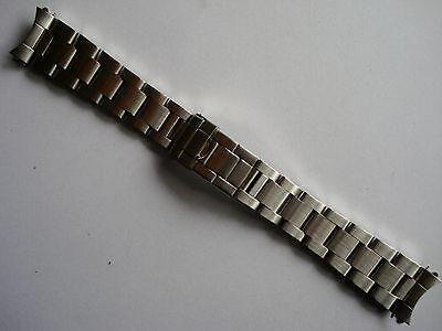 19MM BRUSHED STEEL FLIP-LOCK OYSTER BAND BRACELET FOR ROLEX OLD EXPLORER WATCH