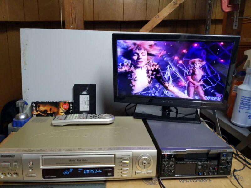 SAMSUNG SV-5000W World Wide Video VHS VCR PAL SECAM NTSC Converter Free Same Day