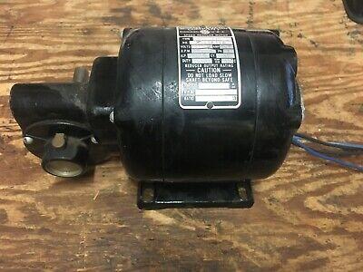 Vintage Bodine Type Nsi-33r 120 Hp Gear Drive Speed Reducing Motor