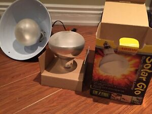SolarGlo 125W reptile lamp with 2 bulbs