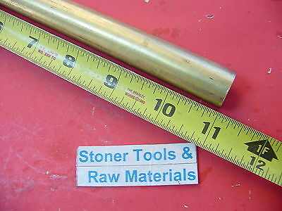 34 C360 Brass Round Rod 11 Long Solid .750 Diameter New Lathe Bar Stock H02
