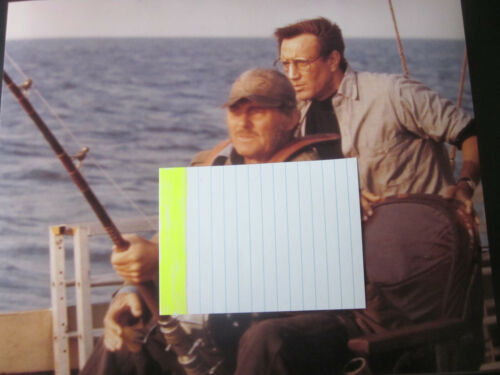 ORIGINAL  8 X 10  PHOTOGRAPH  TAKEN  DURING THE  FILMING  OF  JAWS  1