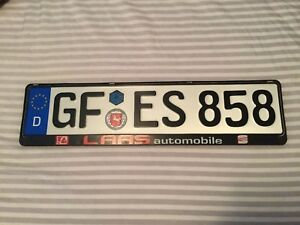 Real European License Plate! Cheap Today!