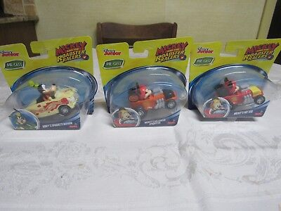 3 Mickey & Roadster Racers Hot Rod, Halloween Spookster & Spaghetti Mayhem New