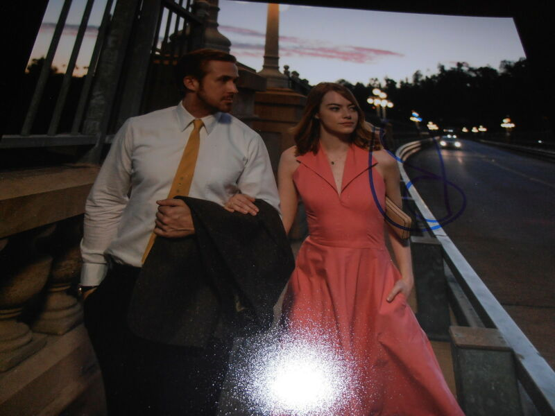 EMMA STONE SIGNED AUTOGRAPH 8x10 PHOTO LA LA LAND OSCARS GOSLING AUTHENTIC COA D