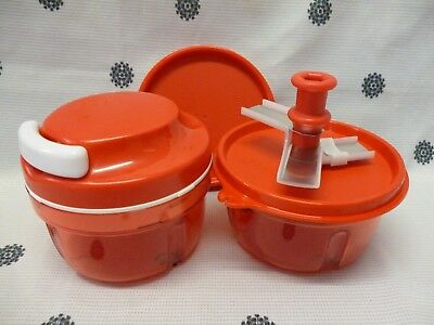 Tupperware Red Turbo Chef + Extra Base & Seals Chop Onion Chopper Veggies New! Red Seal Chef