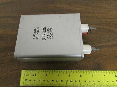 High Voltage Capacitor Oil-filled 0.5uf 6000vdc Northeast Scientific Xt-305