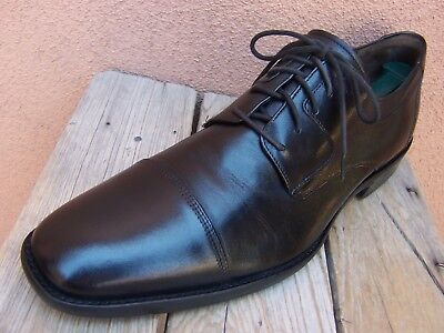 JOHNSTON MURPHY Mens Black Dress Shoes Leather Cap Toe Oxfords Business Size 12M