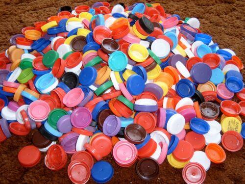 750+ Plastic Milk Bottle Caps for Crafting/DIY/Mosaics/Math/Counting/School/Art