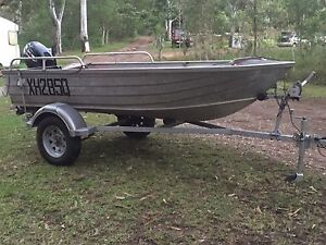 Quintrex 12ft tinny 15hp and trailer Eumundi Noosa Area Preview