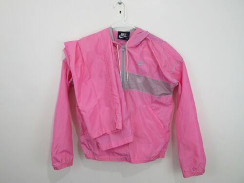 Vintage 90s Nike Warm Up Track Suit Nylon Pink White Womens Size Medium