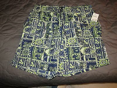 Mens Xl Morro Bay Big   Tall Swim Trunks Blue   Green   Nwt   Vacation Summer