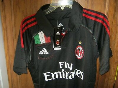 AC Milan Jersey 3rd Third Football Shirt 2012/13 Rare Size SM Mens Italy Kit NWT