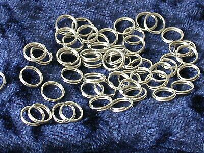 100 Spaltringe Silber 7 mm, doppel Binderinge,Ösen,Schlüsselringe