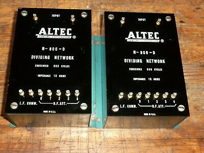 PAIR of vintage ALTEC-LANSING N-800-D X-OVER 16 OHM DIVIDING NETWORK