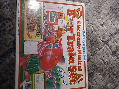 Vintage Electronic Musical Bear Train Set Battery Operated by Tony