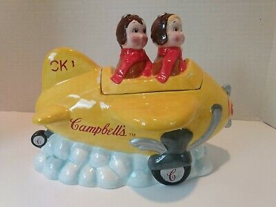 Campbell Soup Kids CK1 Aiming High II Airplane Cookie Jar Collector Edition 2005