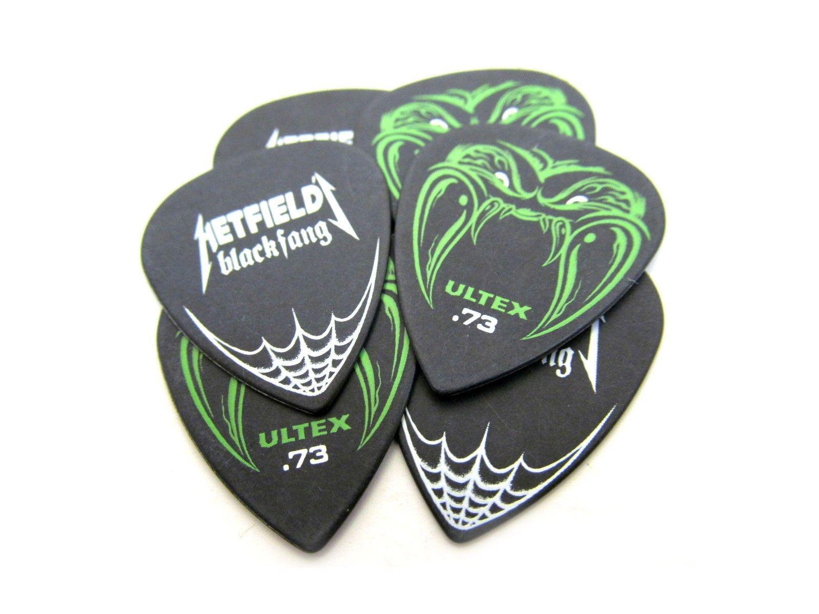 dunlop guitar picks james hetfield metallica black fang 73mm 6 pack ebay. Black Bedroom Furniture Sets. Home Design Ideas