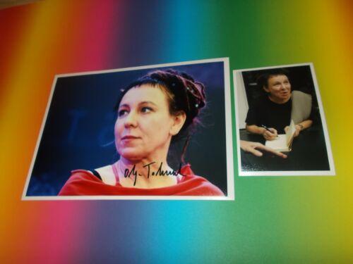 Olga Tokarczuk  literature Nobel Prize signed Autogramm 8x11 photo in person