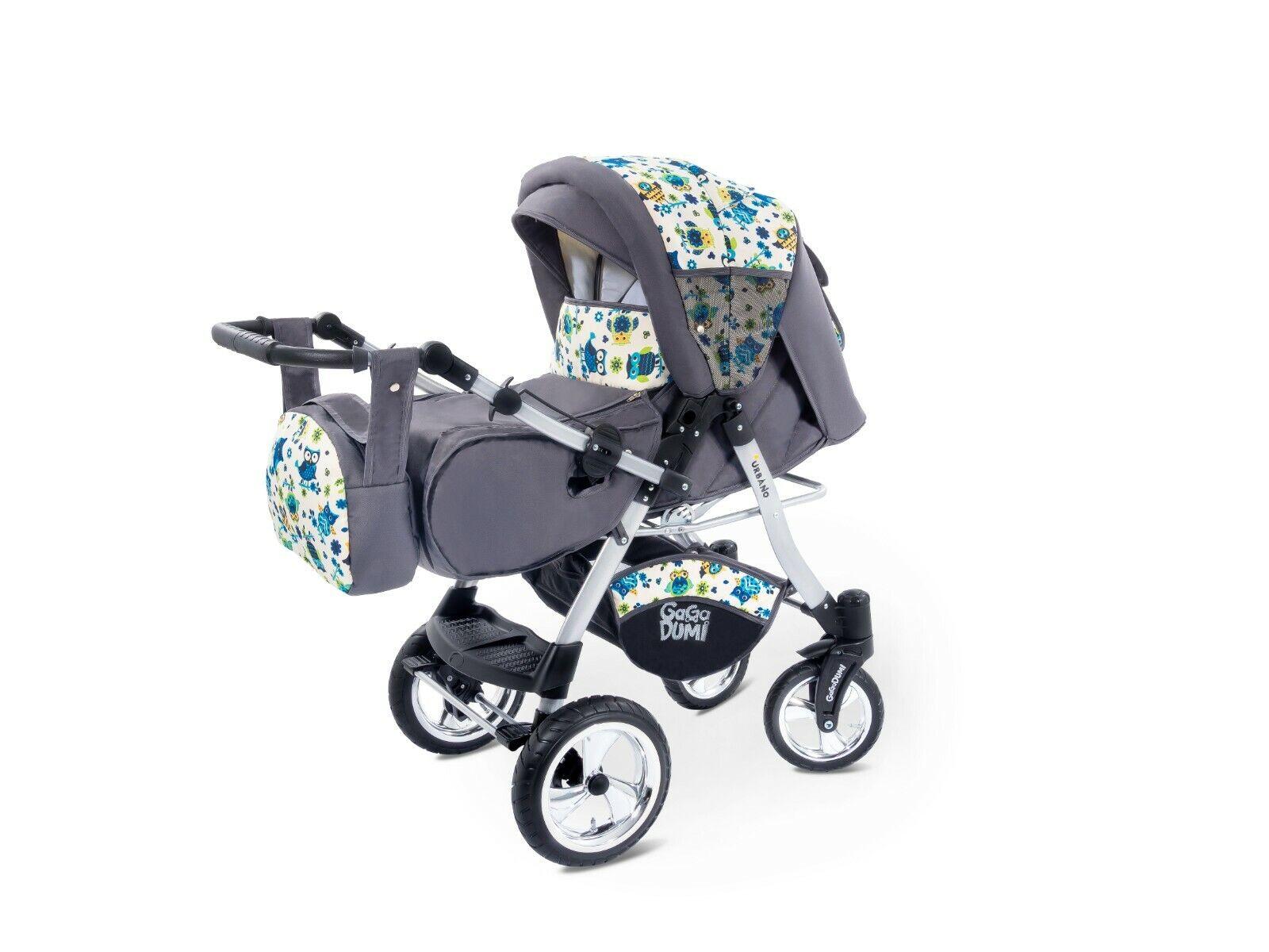 GaGaDumi Urbano Kombikinderwagen Kinderwagen Babyschale 3in1 System Autositz